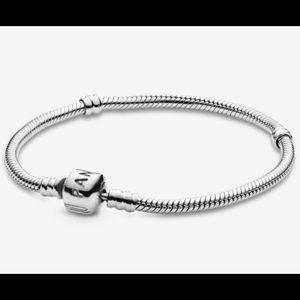 "Authentic Pandora Iconic Silver Charm Bracelet 7"""